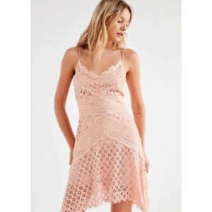 Bridges Lace Mini Dress in Blush